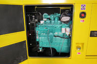 Steel Base Super Silent Diesel Generator Set 50 kw Multi-Functional Control Panel Electric Power