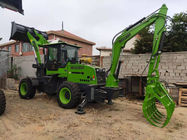 Green Heavy Construction Machinery 1.2cbm Backhoe Loader  And Excavator MZ40-45 2 Ton
