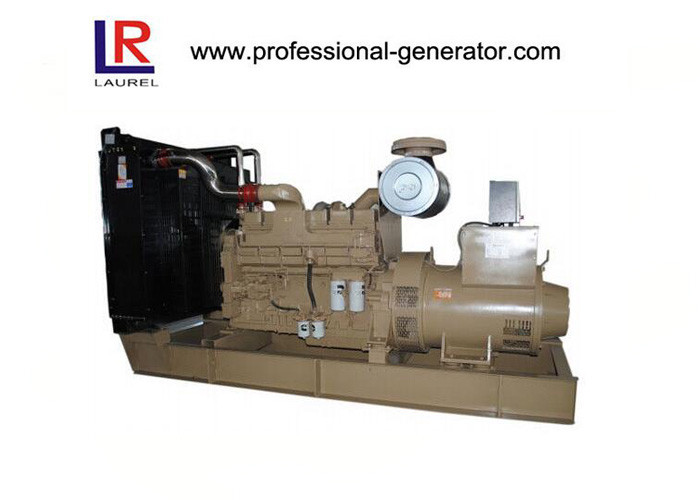 Industrial 600kw Open Diesel Generator Sets with Ripple Flex Exhaust Pipe Unique Design