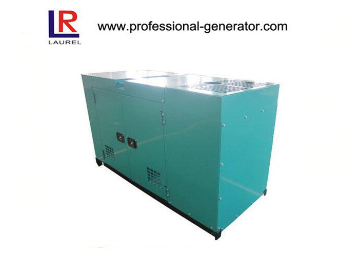 Small Water Cooled Silent Diesel Generator Set AC Three Phase Low Noise Level Canopy