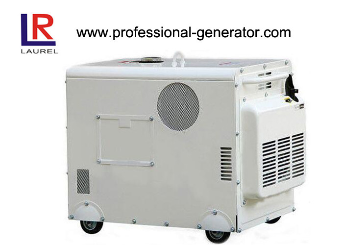 Super Silent Emergency Gasoline Tri Fuel Generator 5kva , Single Phase