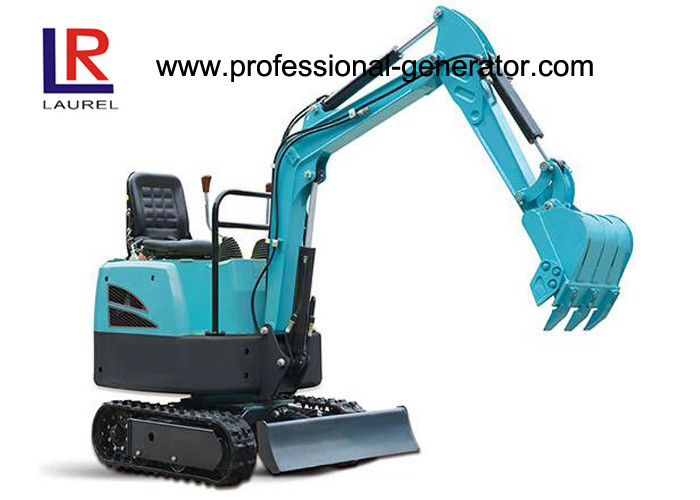 Flexible Movement Heavy Construction Machinery , 16MPa 7.4kw Rubber Crawler Excavator