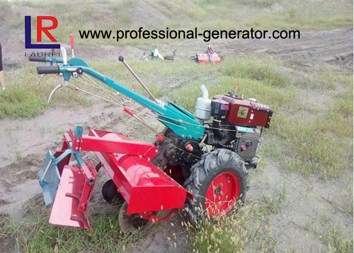 12HP Household Two Wheels Walking Agricultural Tractor 9.35kw Agriculture Machine