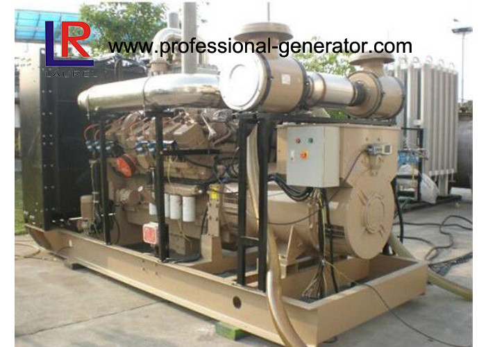 High Efficiency Natural Gas Generators 500kVA Energy Saving Open / Silent Type