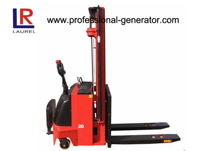 Hydraulic Fork Lift Type 4.5m Height Electric Pallet Stacker Stepless Speed Change Battery