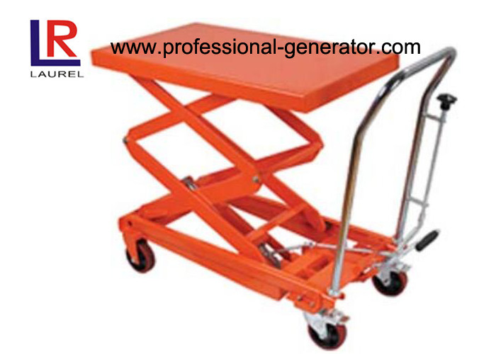 350kg Mini Hydraulic Hand Table Truck Mobile Industrial Material Handling Equipment