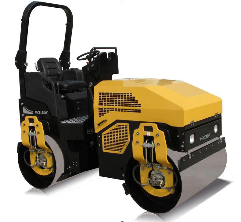 3 Ton Ride - On Road Roller For Asphalt Roads With Yanmar Engine  CE SGS
